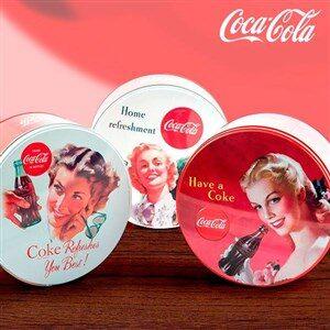 Coca-Cola Retro Rund Metal Box