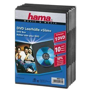 DVD-Box Slim Sort 10-pak
