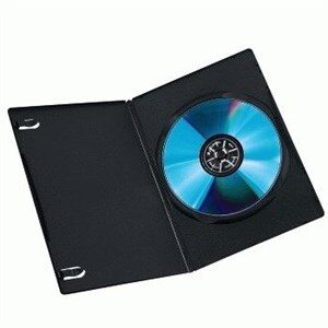 DVD Slim Box 10, Black 1 diske Sort