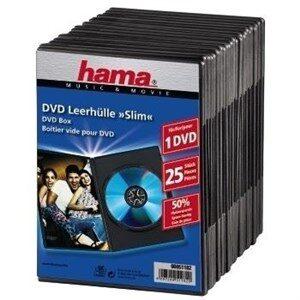 DVD Slim Box 25, Black 1 diske Sort
