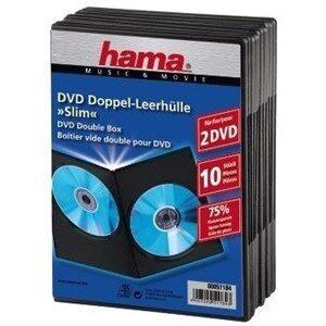 DVD Slim Double-Box 10, Black 2 diske Sort