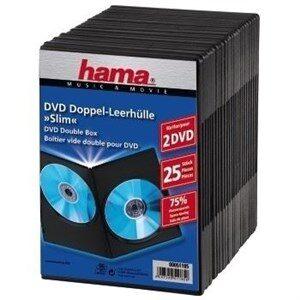 DVD Slim Double-Box 25, Black 2 diske Sort
