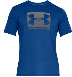 Kortærmet T-shirt til Mænd Under Armour Boxed Sportstyle Blå XL