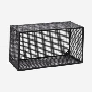 WIRE box for wall, black, L