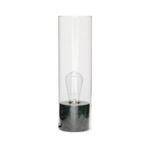 HÜBSCH bordlampe - grønt marmor og glas (Ø 12)
