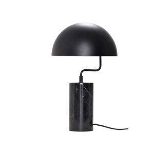 HÜBSCH bordlampe - sort metal/marmor