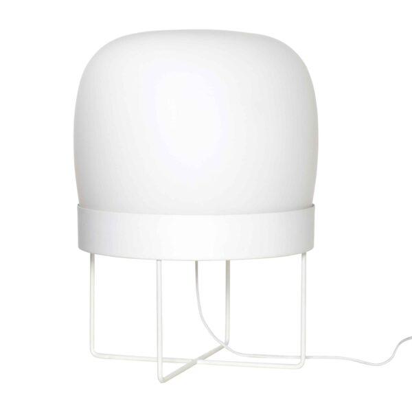 HÜBSCH gulvlampe - hvid metal/glas