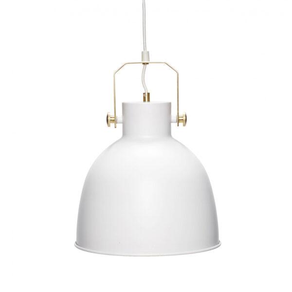 HÜBSCH loftlampe - hvidt metal og guld metal (Ø 29)
