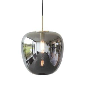 HÜBSCH loftlampe - spejlglas og messing (Ø 40)