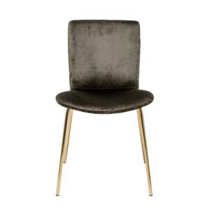 BLOOMINGVILLE Bloom spisebordsstol - mørkegrøn/guld polyester/jern