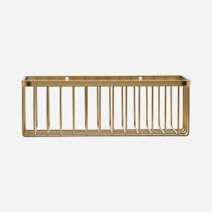 Basket, Bath, Brushed brass