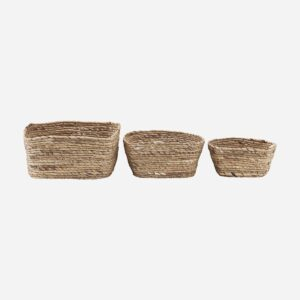 Basket, Nangloi, Natural, Set of 3 sizes