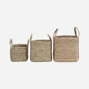 Baskets, Sikar, Natural, Set of 3 sizes