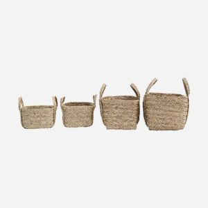 Baskets, Sikar, Natural, Set of 4 pcs