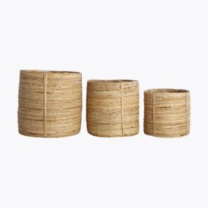Baskets/Storages, Chaka, Nature, Set of 3 sizes