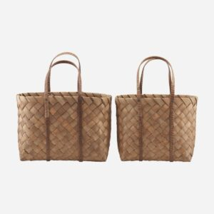 Beach taske, Brown, Set of 2 sizes