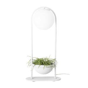 Bloomingville bordlampe - hvid glas/metal