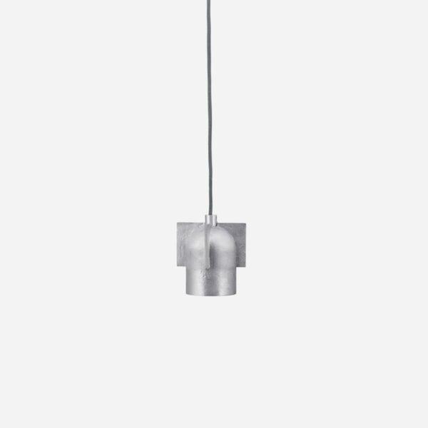 Lamp, Akola, Brushed silver, G9 bulb (LED), Max 5 W, 3 m grey fabric cable