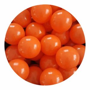 Misioo bolde i orange - 50 stk