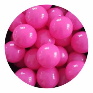 Misioo bolde i pink - 50 stk