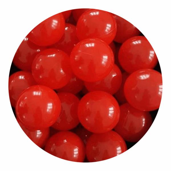 Misioo bolde i rød - 50 stk