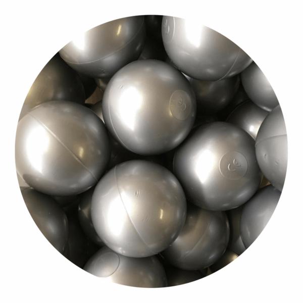 Misioo bolde i sølv - 50 stk