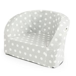 Misioo lænestol i grå med hvide prikker
