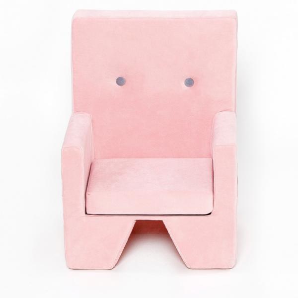 Misioo lænestol med armlæn i lyserød