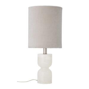 BLOOMINGVILLE bordlampe - natur bomuld og hvid alabast